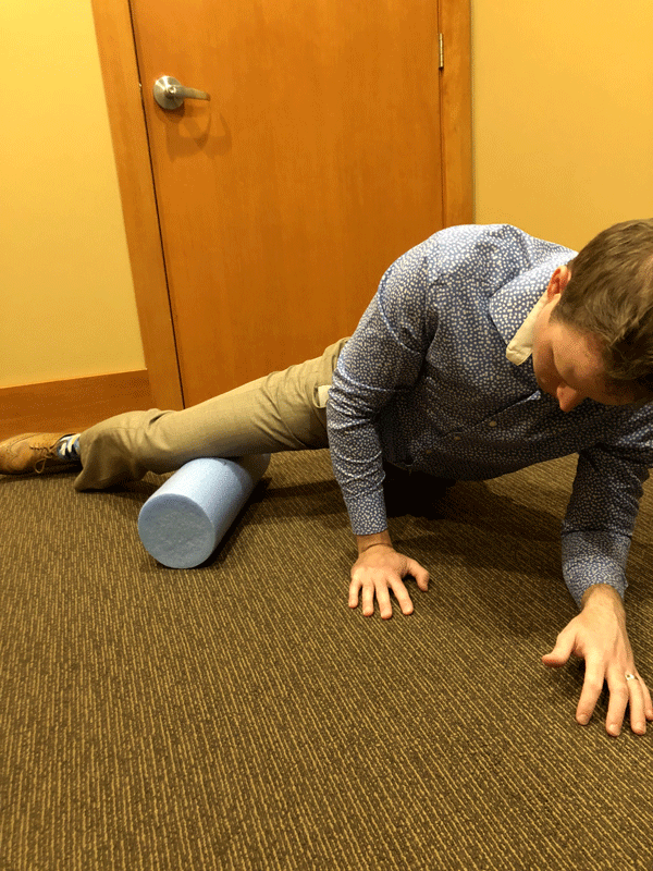 Adductors Foam Rolling Exercise