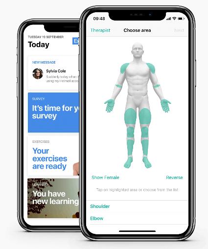 Physitrack App Activity Tracking